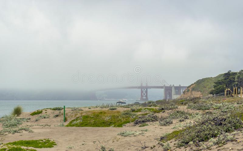 Beautiful view of Baker Beach in San Francisco royalty free stock photo