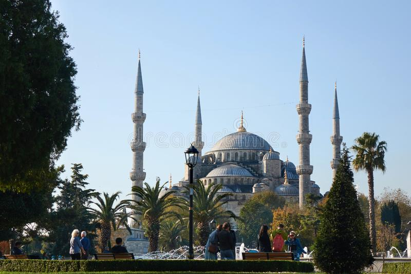 Beautiful view of the Blue Mosque stock image