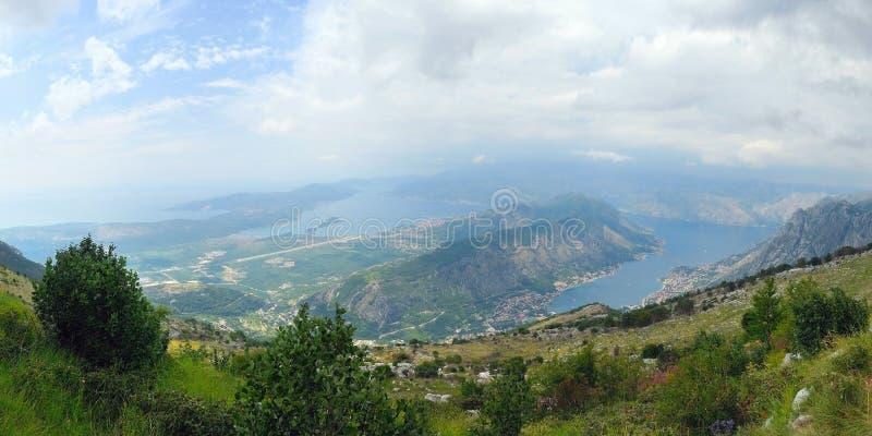 Boko kotorska bay in Montenegro. Beautiful view and the Bokj Kotorska bay from the top of the mountain. Montenegro stock images
