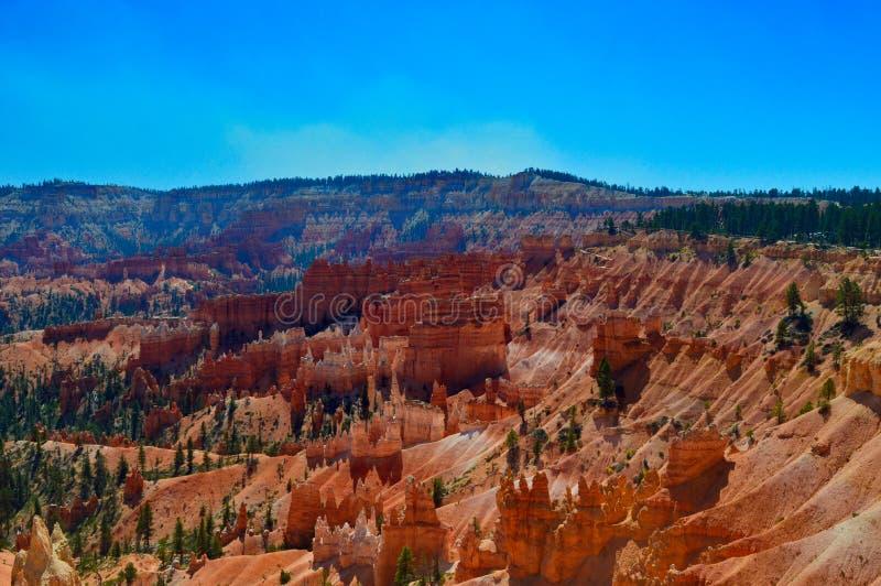 View at Bryce canyon national park stock image