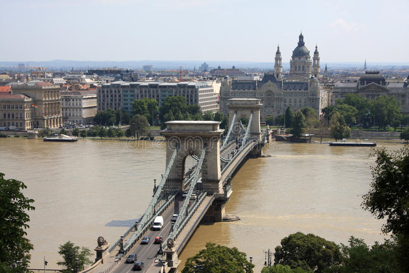 Beautiful view on Budapest stock image