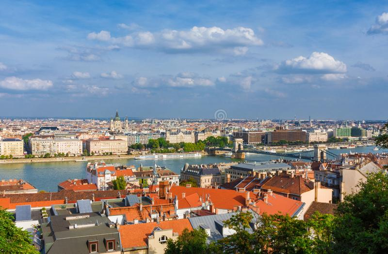 Budapest and Danube panorama royalty free stock images
