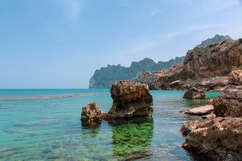 Cala Barques royalty free stock photos