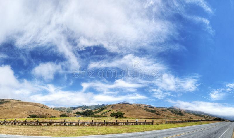 A Beautiful View of the California Coastline along State Road 1 -USA. A Beautiful View of the California Coastline and Nature along State Road 1 -USA stock photography