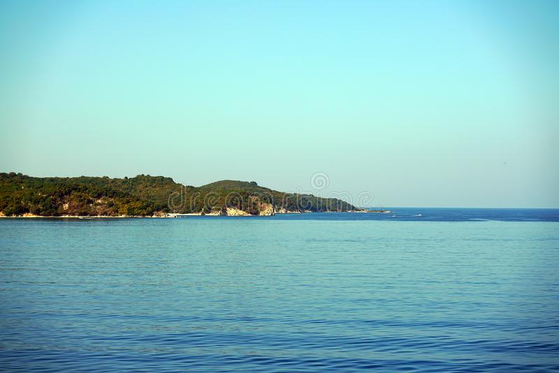 Beautiful view that can be admired at the entrance to the port of Igoumenitsa royalty free stock photos