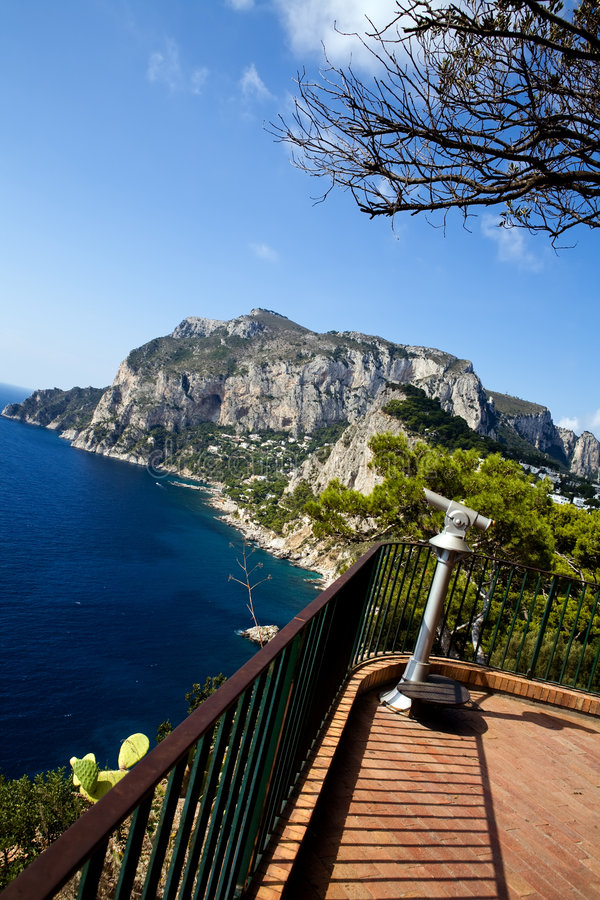 Beautiful view of Capri Island from tourist point