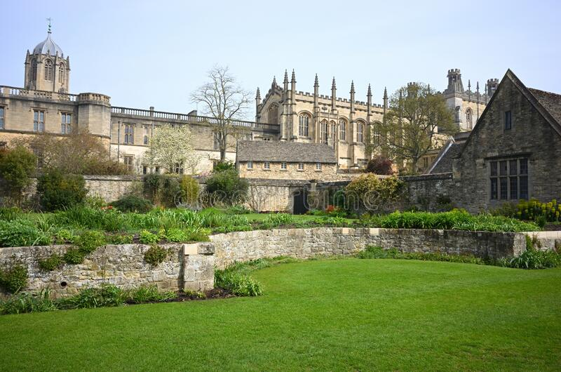 Beautiful view of Christ Church Cathedral and College in Oxford, United Kingdom. A beautiful view of Christ Church Cathedral and College in Oxford, United royalty free stock photography