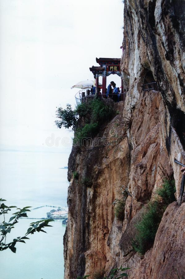 Beautiful view on the cliff royalty free stock photo