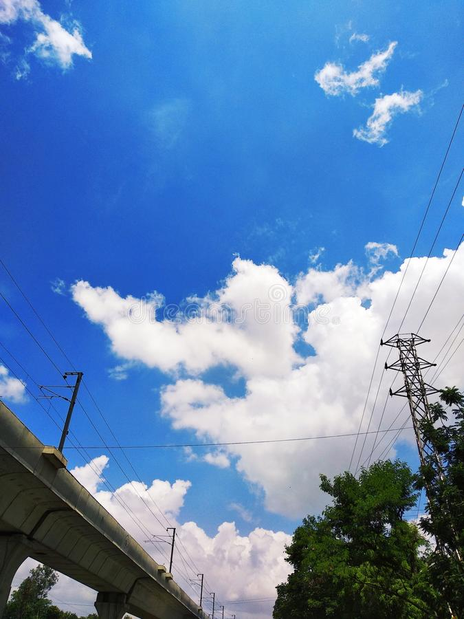 Clouds after heavy rainfall In India royalty free stock photos