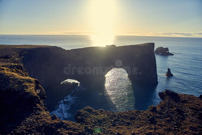 Dyrholaey in Iceland stock image