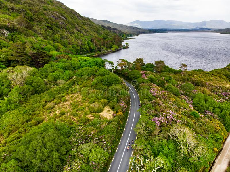 Beautiful view of Connemara National Park, famous for its bogs, heaths and lakes, County Galway, Ireland stock image