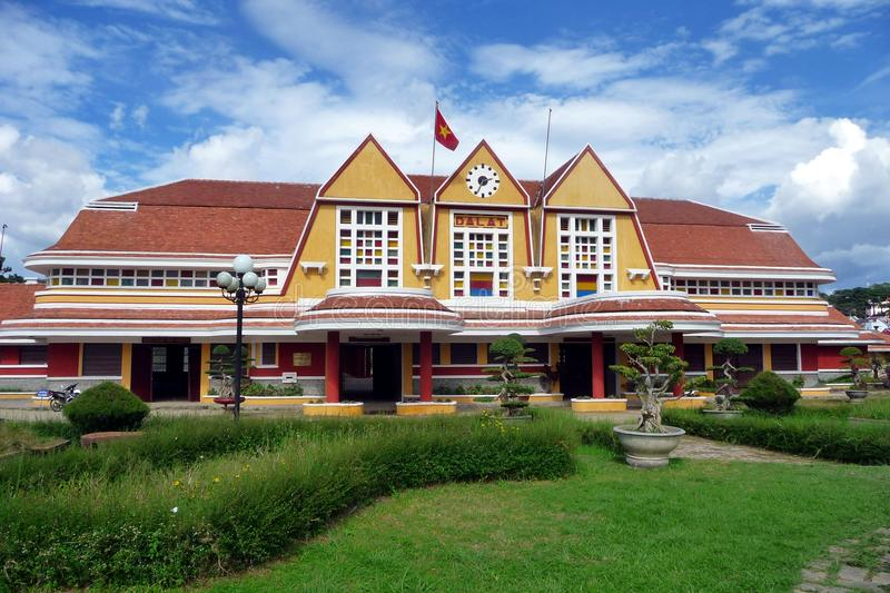 Beautiful view of Dalat Station, Vietnam royalty free stock image