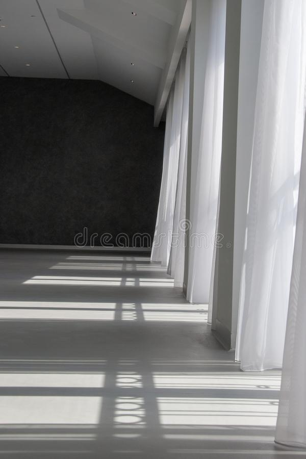 Beautiful view of dance class, empty royalty free stock image