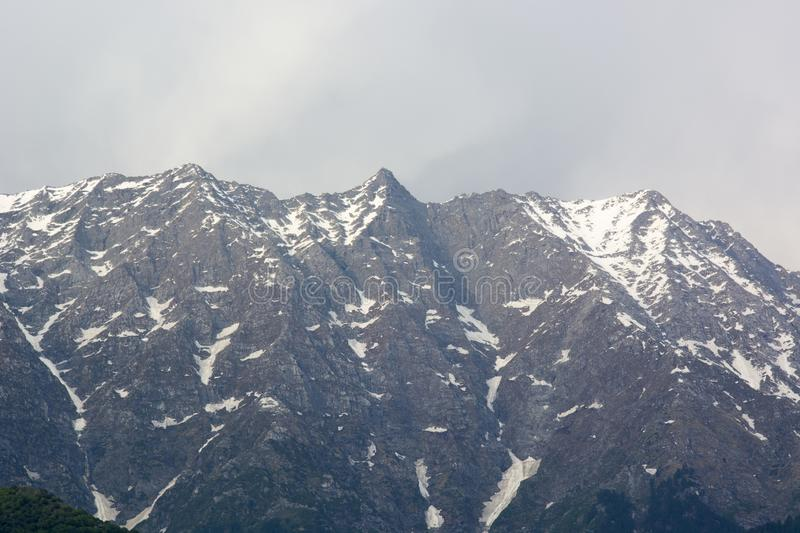 A beautiful view of the Dhauladhar Mountain Range stock images