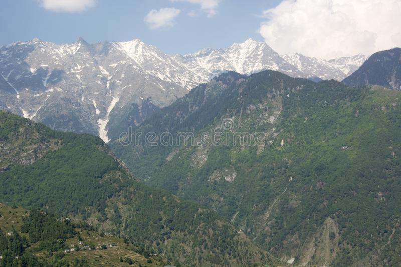 A beautiful view of the Dhauladhar Mountain Range royalty free stock photography