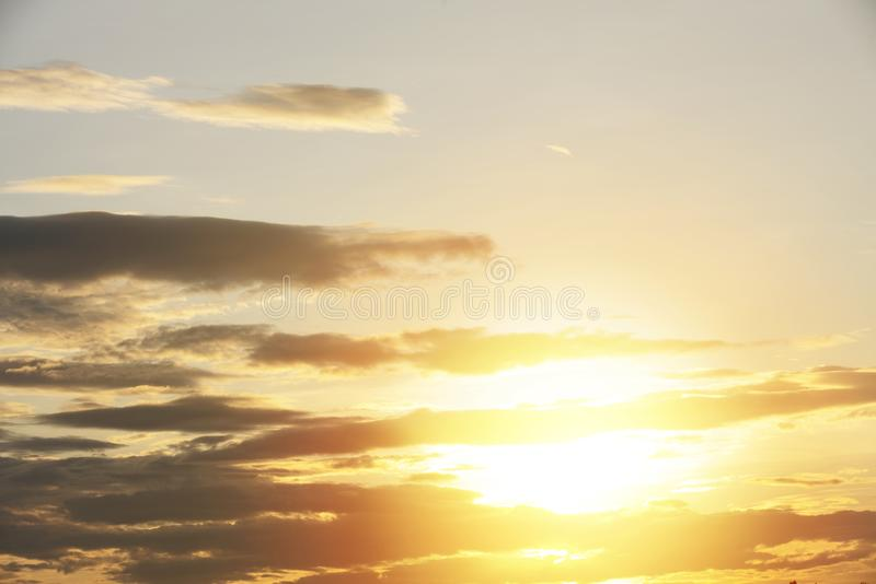 View Of Dramatic Sky During Sunset. Beautiful  View Of Dramatic Sky During Sunset stock photography