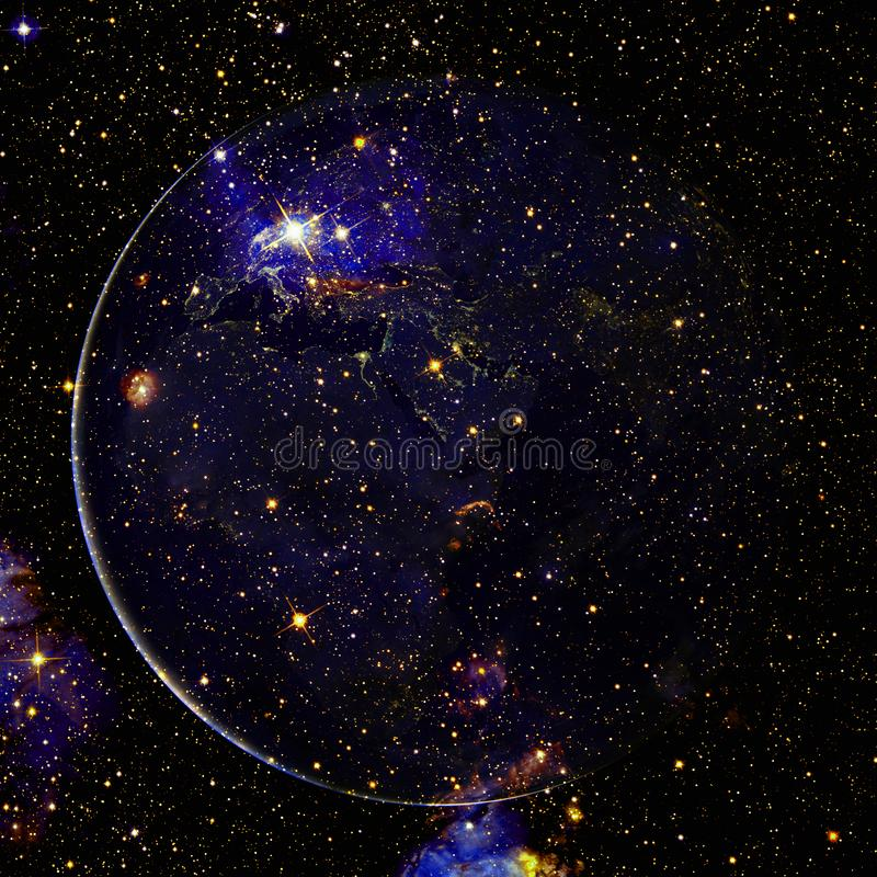 Beautiful view of earth from space. Elements of this image furnished by NASA.  royalty free stock photography