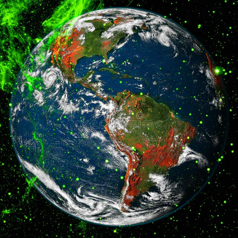 Beautiful view of earth from space. Elements of this image furnished by NASA.  stock photography