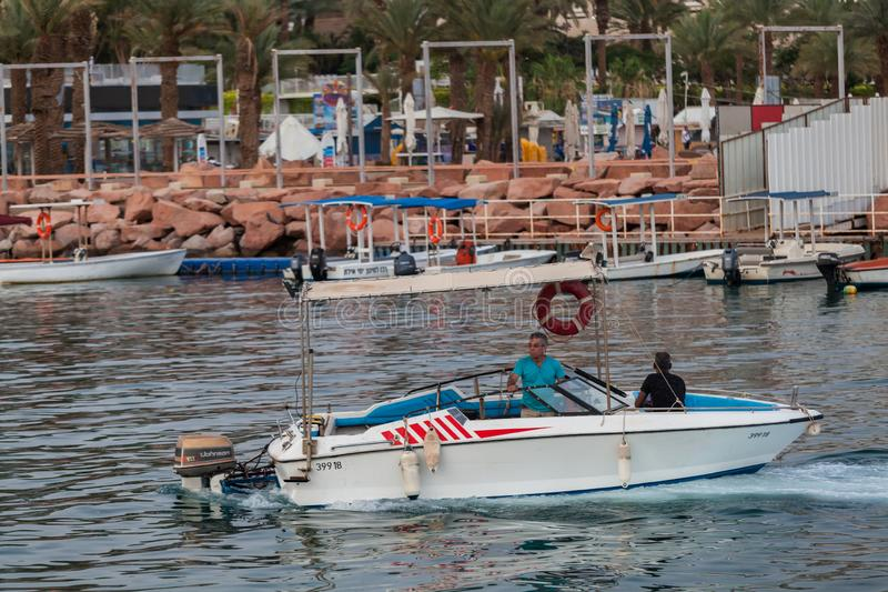 Beautiful view of the Eilat. EILAT, ISRAEL - CIRCA MAY 2018: Beautiful view of the Eilat in Israel circa May 2018 in Eilat stock photography