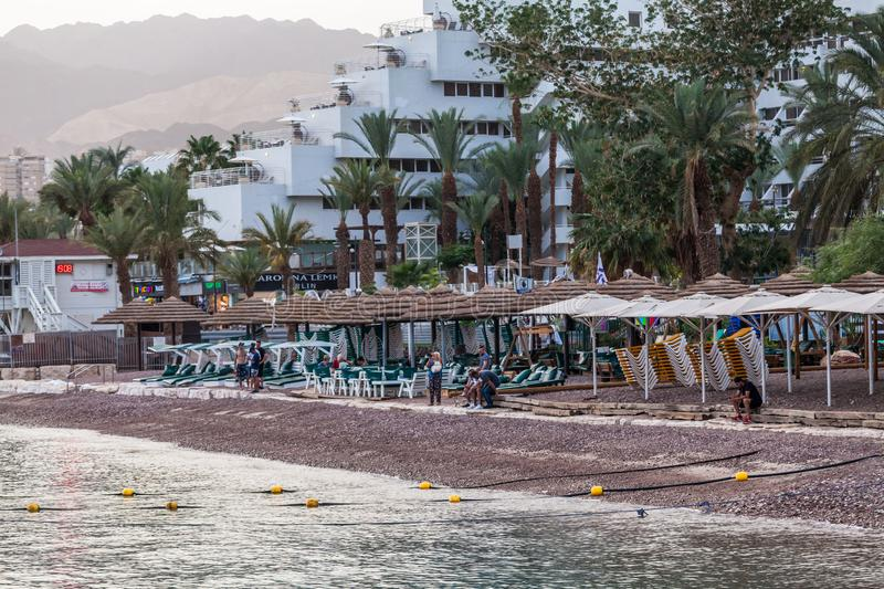 Beautiful view of the Eilat. EILAT, ISRAEL - CIRCA MAY 2018: Beautiful view of the Eilat in Israel circa May 2018 in Eilat royalty free stock images
