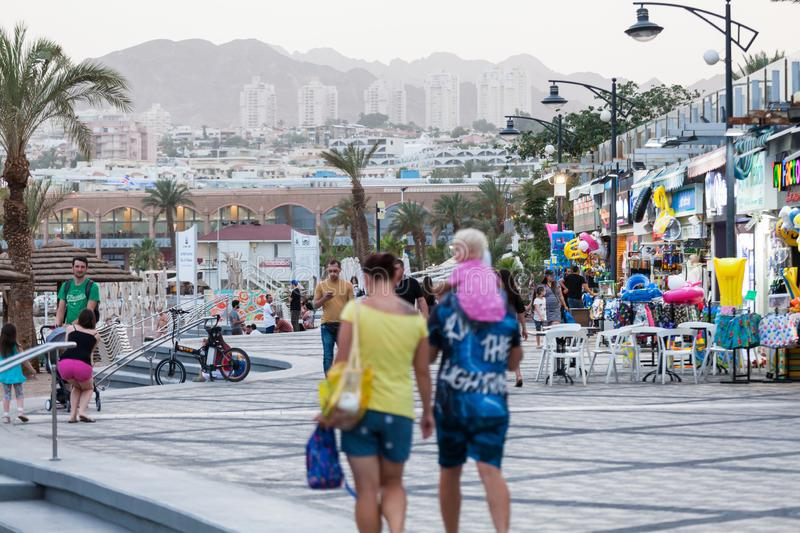 Beautiful view of the Eilat. EILAT, ISRAEL - CIRCA MAY 2018: Beautiful view of the Eilat in Israel circa May 2018 in Eilat stock images