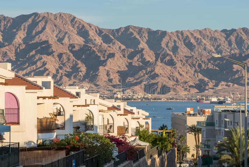 Beautiful view of Eilat, Israel. Beautiful view of Eilat - famous resort city on the red sea in Israel royalty free stock images