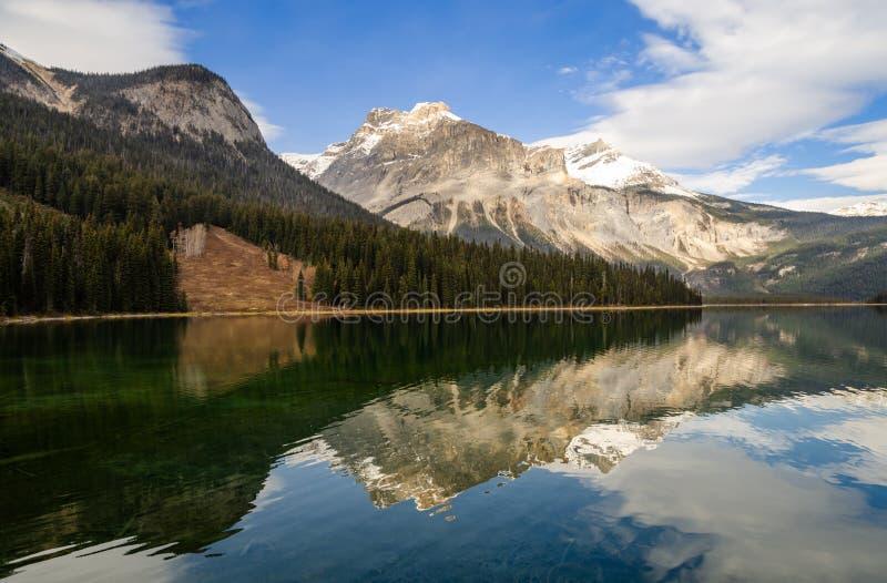 Beautiful view of Emerald Lake in Yoho National Park, British Columbia , canada royalty free stock image