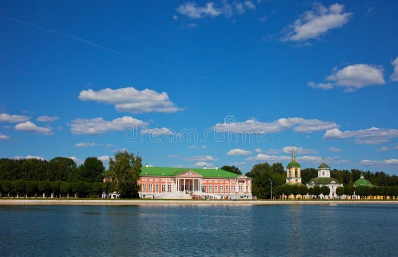 Beautiful view of the estate Kuskovo royalty free stock photos