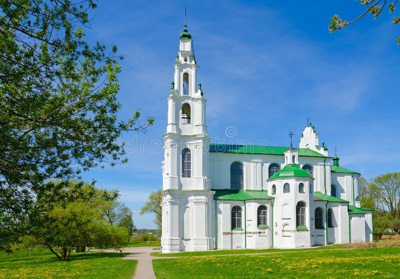 St. Sophia Cathedral, Polotsk, Belarus. Beautiful view of famous St. Sophia Cathedral, Polotsk, Belarus stock photo