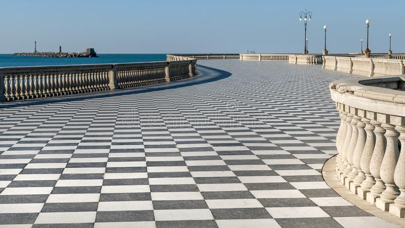 Beautiful view of the famous Terrazza Mascagni in Livorno, Tuscany, Italy. Europe stock images