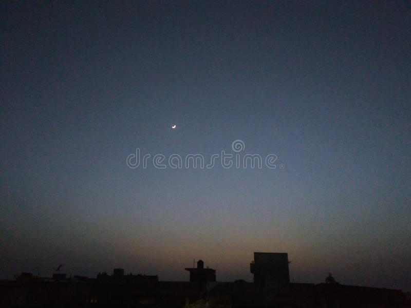 Beautiful View of First Roza Night stock images
