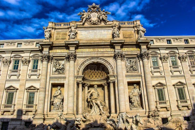 Fontana Di Trevi - Rome. A beautiful view of Fontana Di Trevi - Rome stock photos