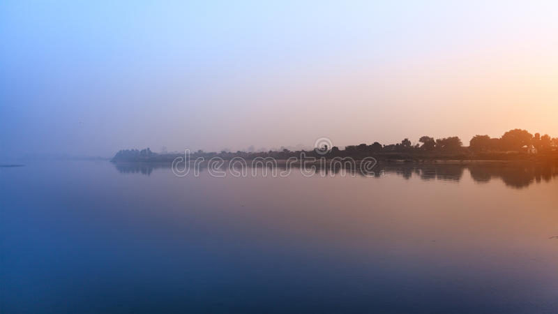 Beautiful view of ganga river stock photography
