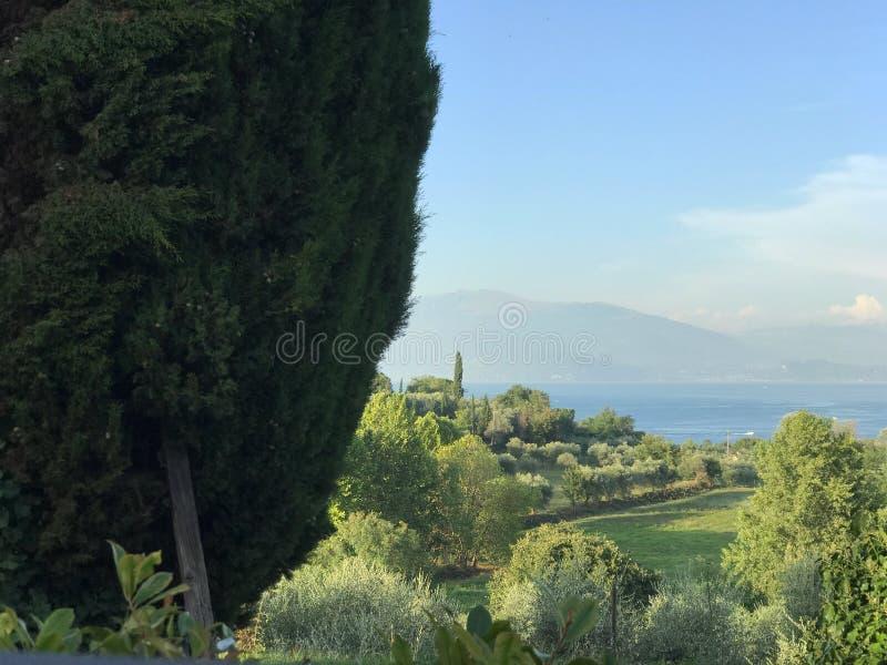 Beautiful view Gardalake Italy stock photography