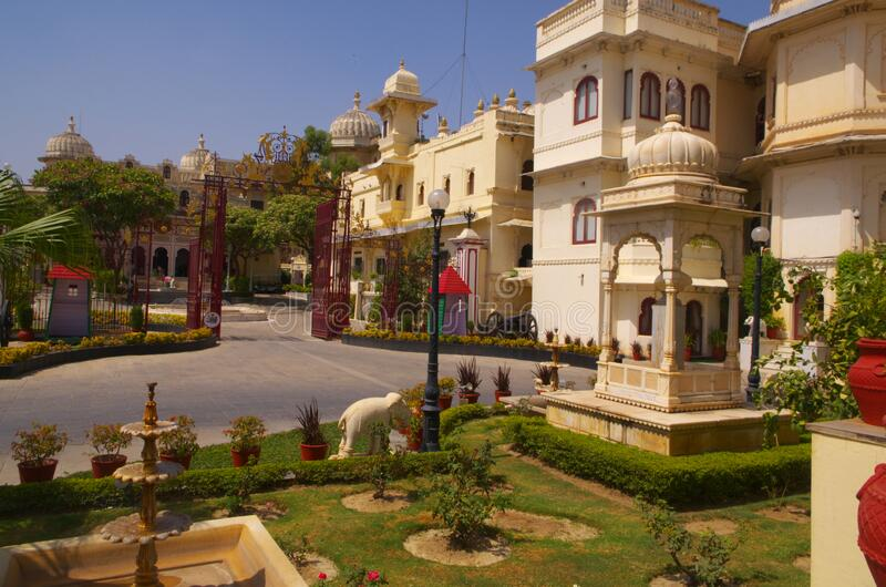View inside Udaipur Palace royalty free stock photo