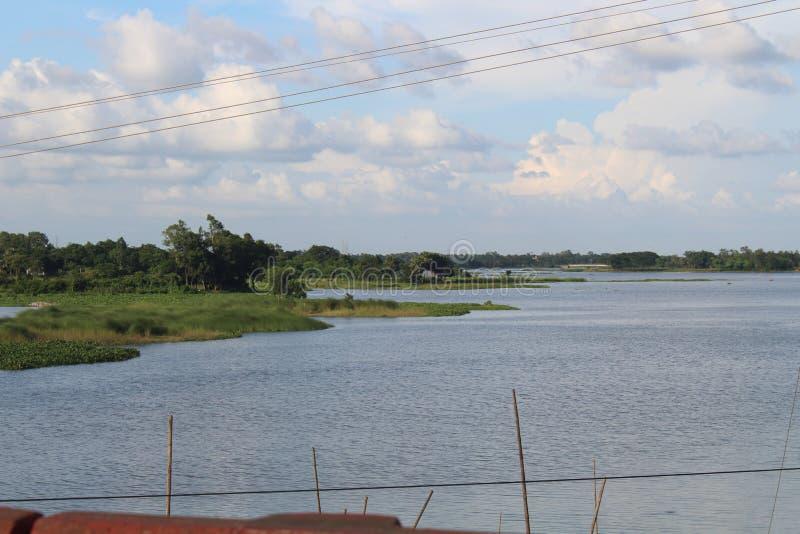 Beautiful view of gazipur side pubail. Beautiful gazipur bangladesh royalty free stock photo