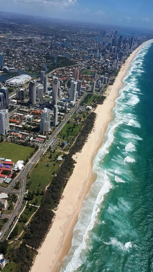 Beautiful view of Gold Coast royalty free stock images