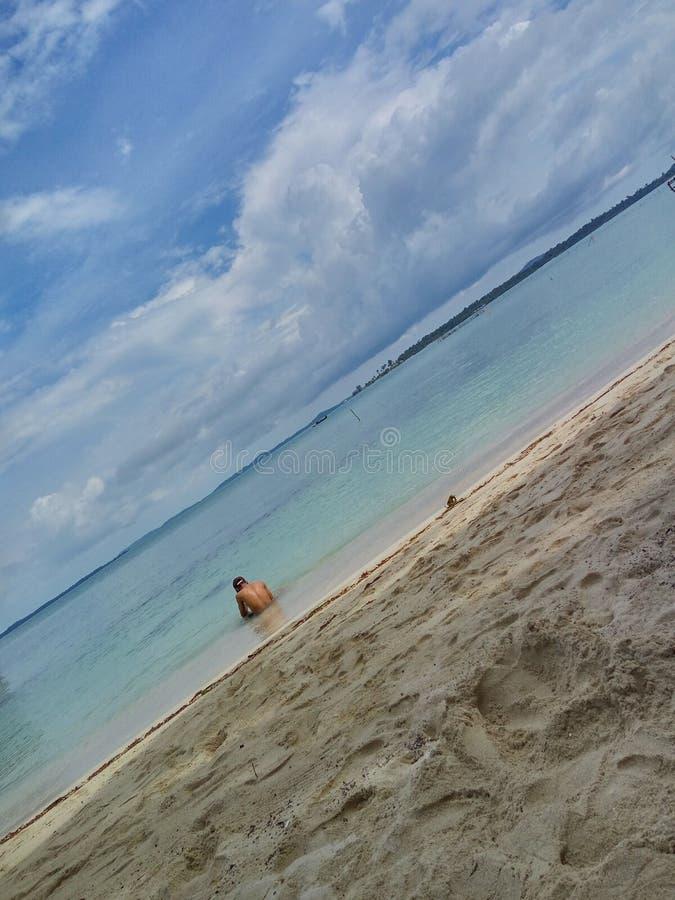 Aloneness. Beautiful view, great beach, good feeling royalty free stock image