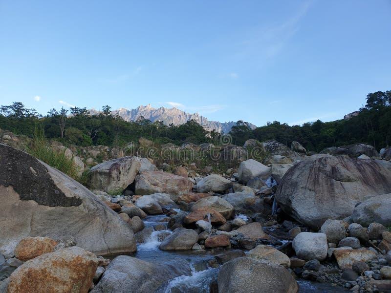 Mount Kinabalu View, Sabah, Borneo, Malaysia royalty free stock photos