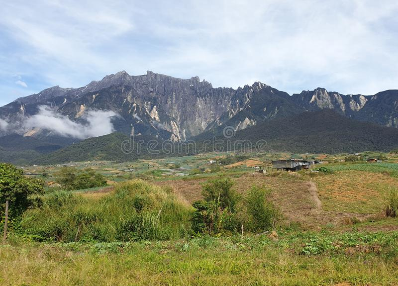 Mount Kinabalu View, Sabah, Borneo, Malaysia royalty free stock image