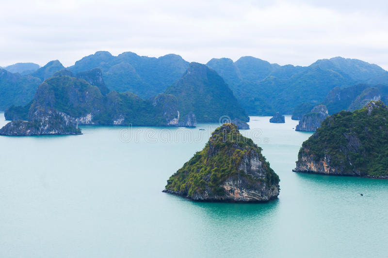Beautiful view of Halong Bay, Vietnam, scenic view of islands, Southeast Asia royalty free stock photos