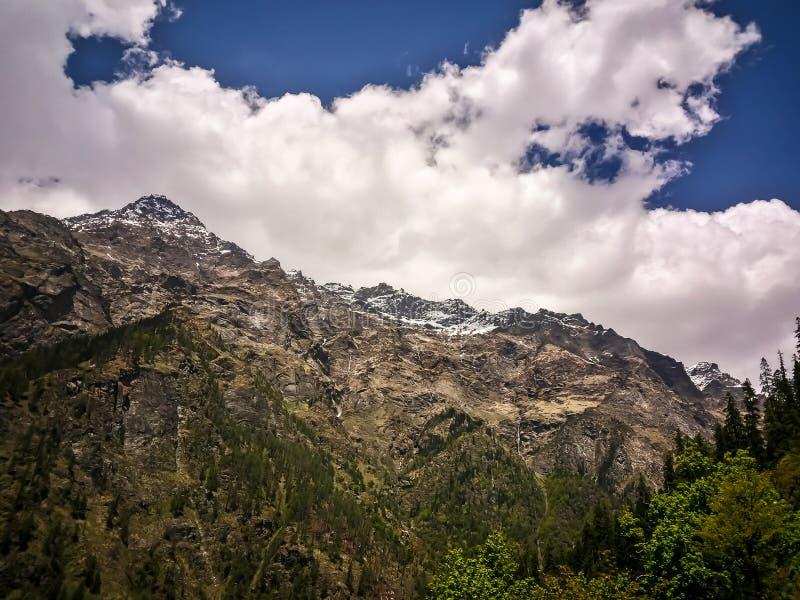 Beautiful view of Himalayan mountains, Kasol, Parvati valley, Himachal Pradesh, India. Beautiful view of Himalayan mountains, Kasol, Parvati valley, Himachal royalty free stock photos