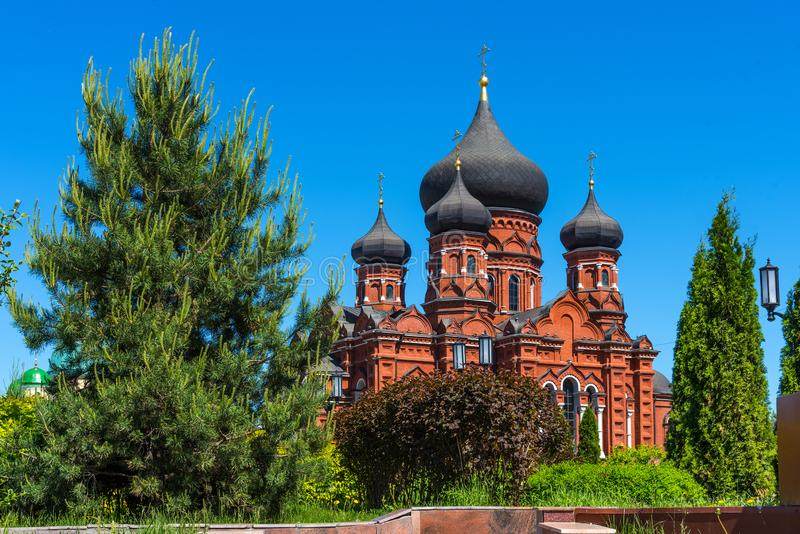 Beautiful view of Holy Assumption Cathedral in Tula, Russia royalty free stock images