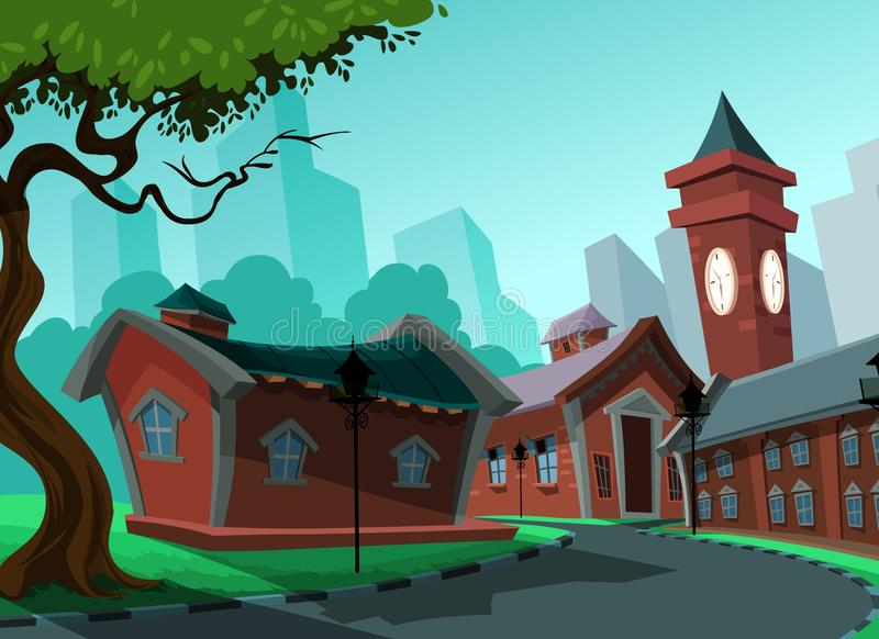 Beautiful view of homes royalty free illustration