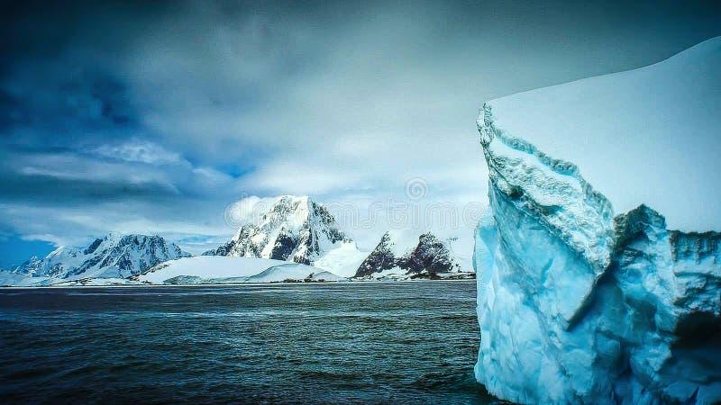 Beautiful view of icebergs in Antarctica stock photo