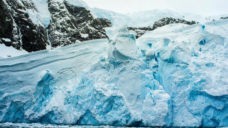 Beautiful view of icebergs in Antarctica stock images
