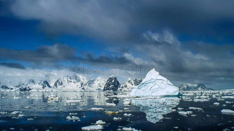 Beautiful view of icebergs in Antarctica royalty free stock photos