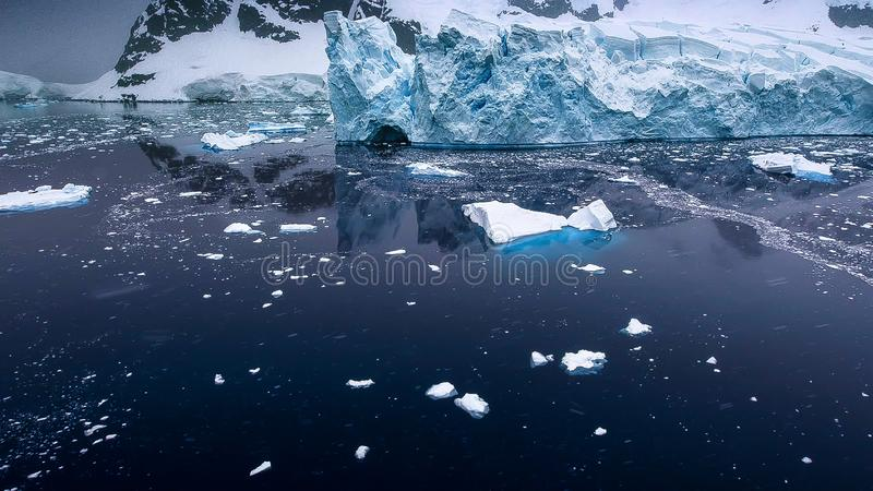 Beautiful view of icebergs in Antarctica royalty free stock photography