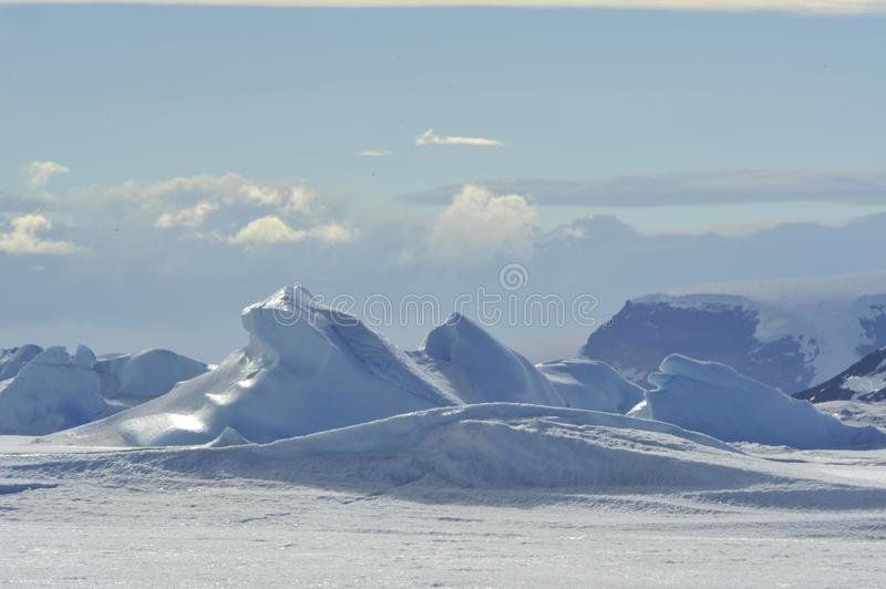 Beautiful view of icebergs in Snow Hill Antarctica royalty free stock image