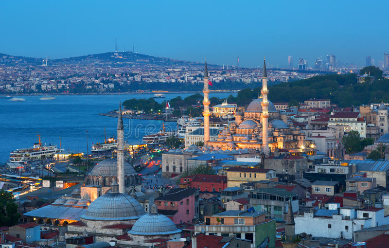 Beautiful view of Istanbul royalty free stock photo
